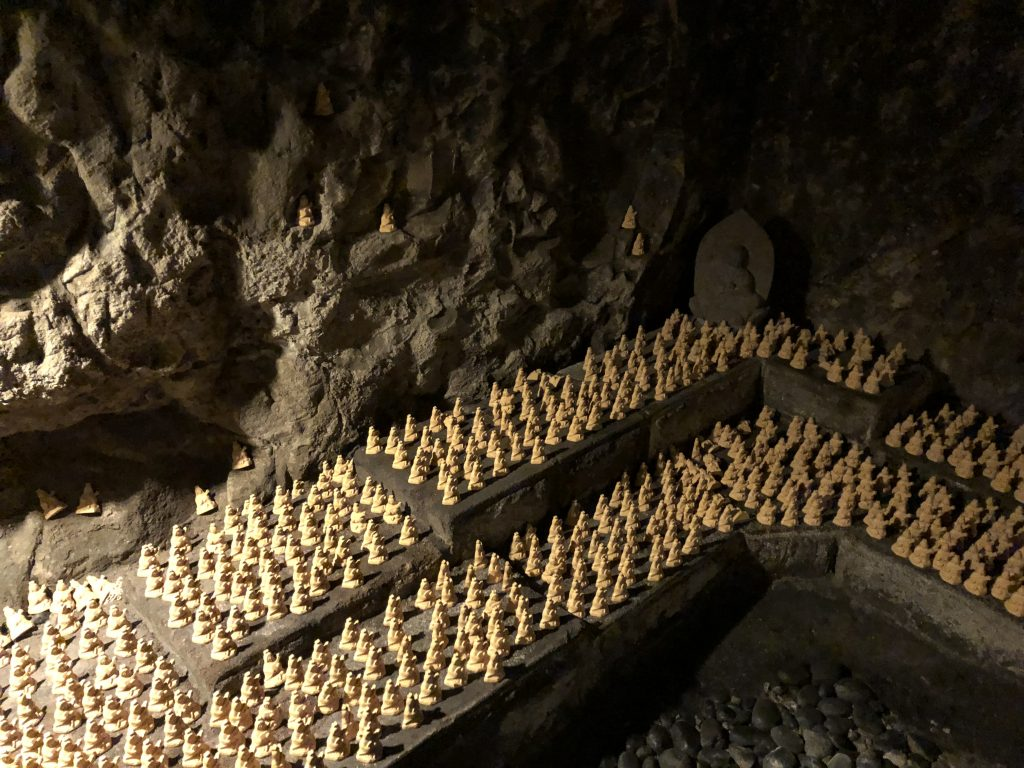 Rows and rows of the offerings.