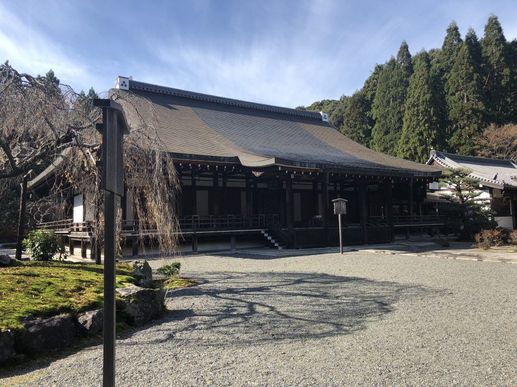 A view of one of the halls of Kokedera.