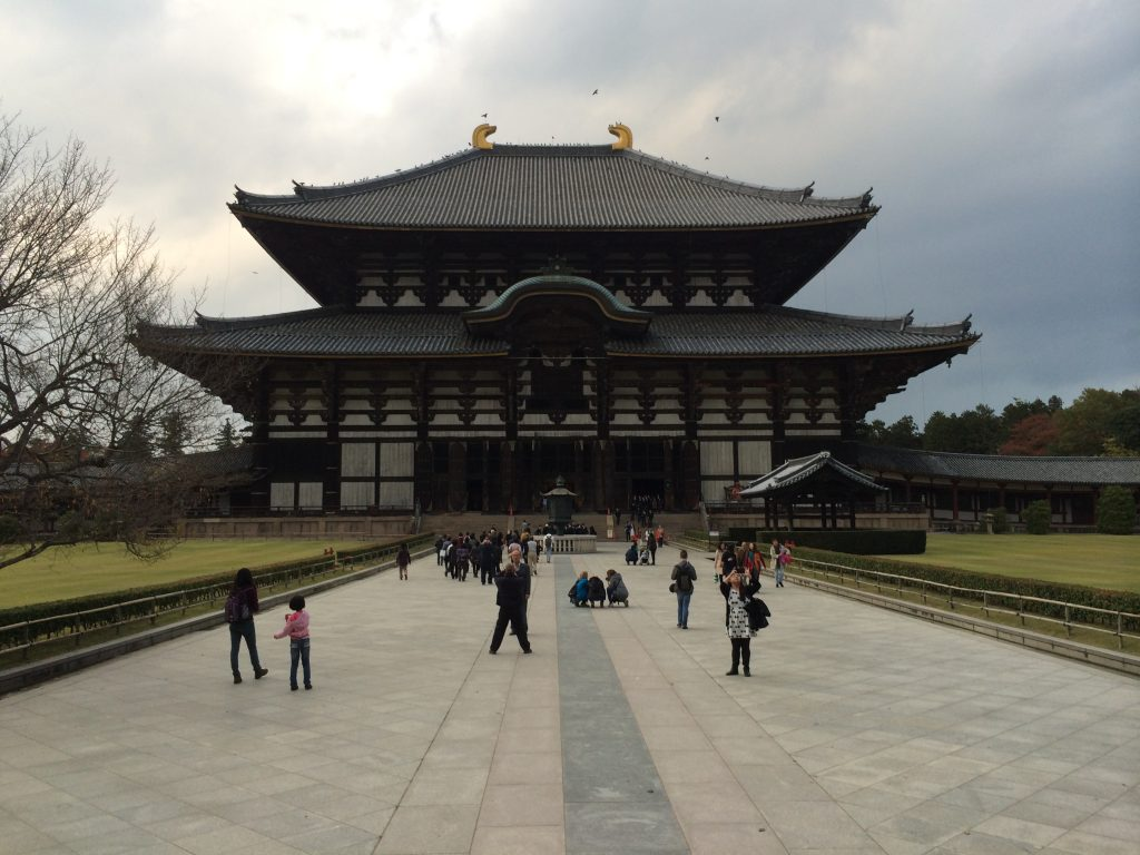 A front view of the temple. It is absolutely enormous.